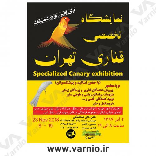 نمایشگاه قناری تهران  تراکت                                         1